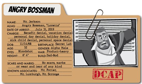 Angry Bossman - Benefits Villain