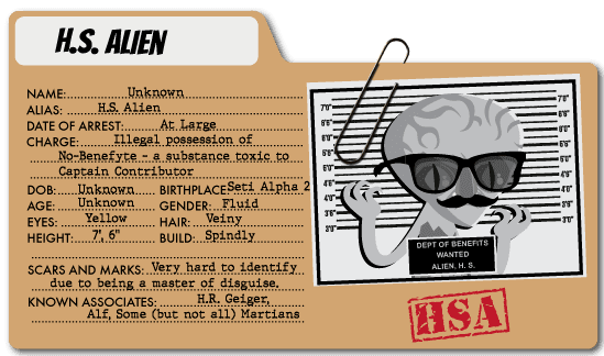 H.S. Alien - Healthcare Benefits Villain