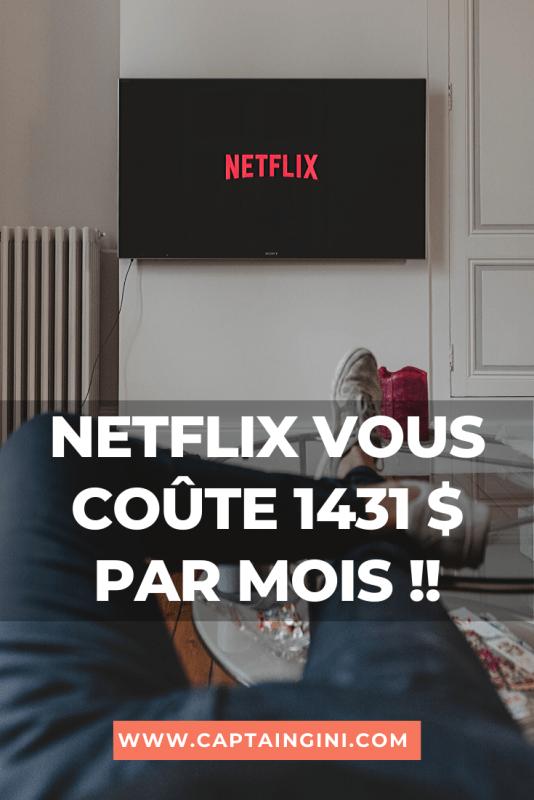 Netflix vous coûte 1431 par mois