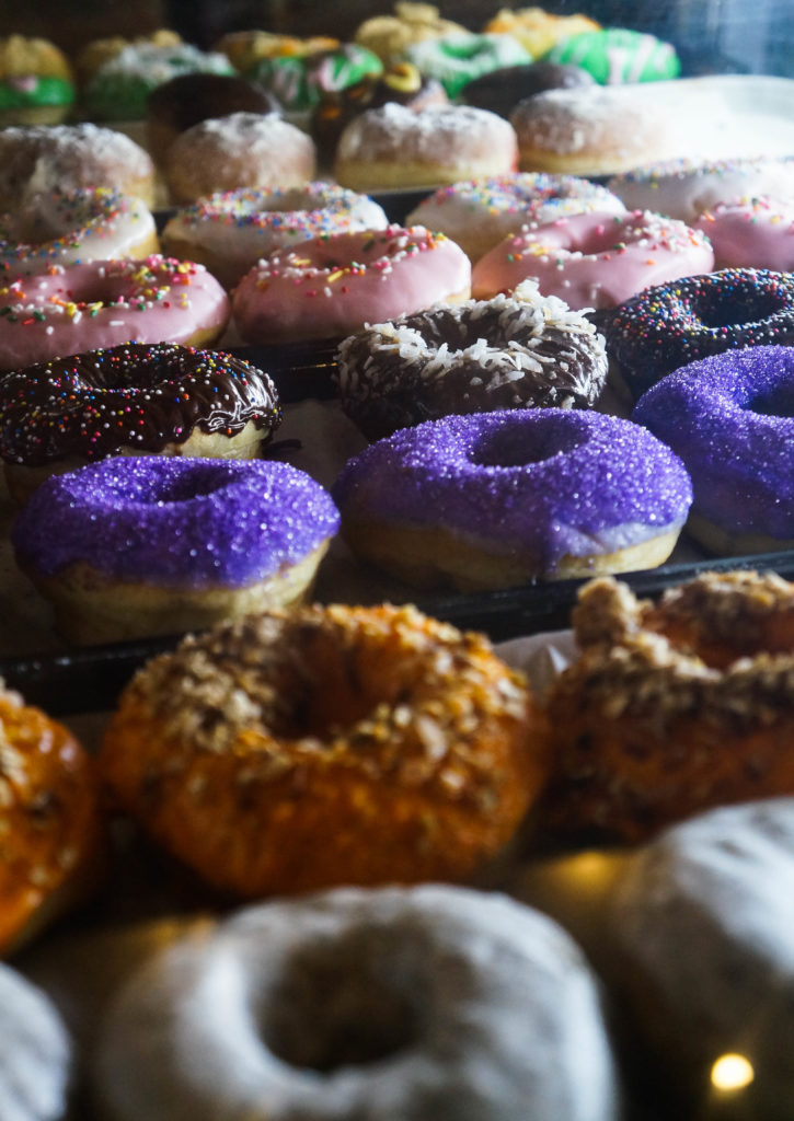 purple donuts