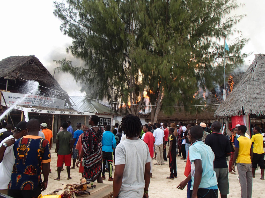 #fire at a beach resort in #Zanzibar
