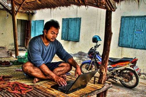 Social media and technology is increasingly available anywhere in Thailand.