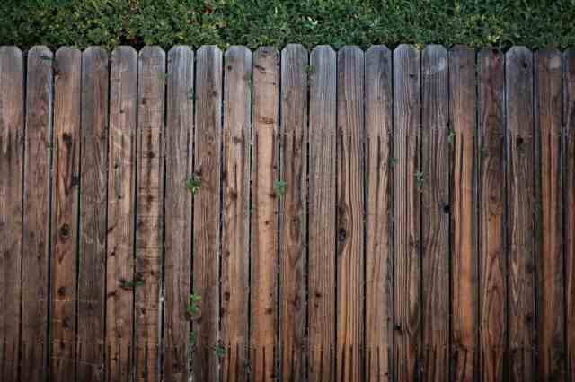 a stained privacy fence