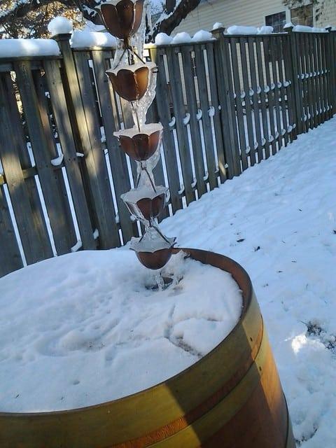 a non-winterized rain barrel