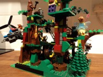From the back. I enjoyed putting the trees together.