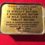 Emergency Ration tin, unopened Royal Canadian Navy 1945 (lifeboat ration)