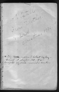 1936 inscription page of Estelle's bible with McKAY genealogy