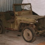 Willys MB 1121 as it arrived in Canada, exactly as it left the Norwegian Army in 1985.