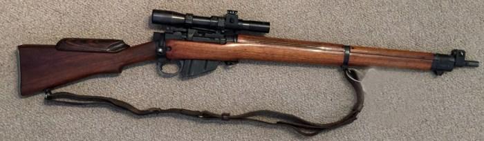 1944 Lee-Enfield No. 4 MK. I (T) sniper rifle