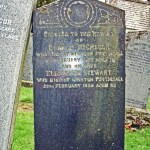 Donald McGregor 1927 & wife Elizabeth Stewart 1928. In Fortingall Churchyard, Scotland. Photo by CMS