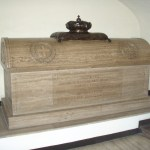 Casket for Bonnie Prince Charlie and King James, St Peter's crypt, Rome