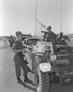 Canadian Army Ferret MK. I CAR 54-82601 with UNFICYP in Cyprus in 1964