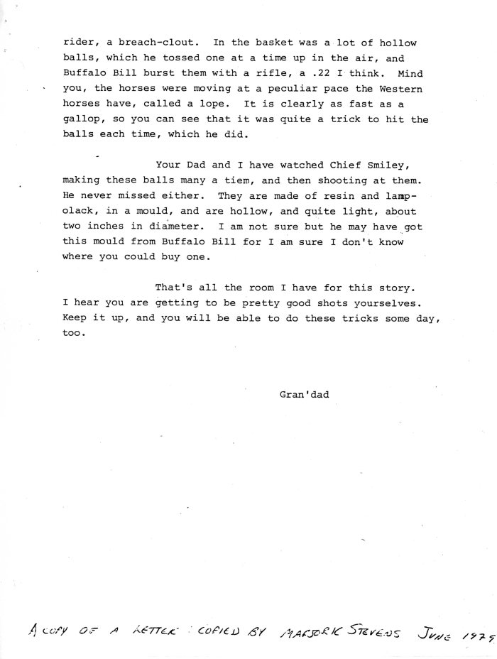 1960-05-07 p2 of 2 Letters from Wm Arnott STEVENS