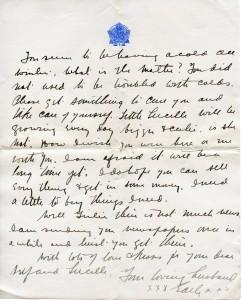 Undated letter - last page circa 195-1916