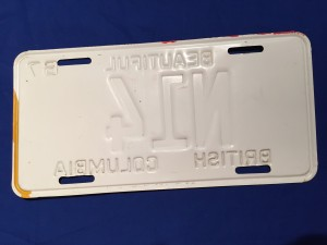 Licence plate Canadian military 1969 N14