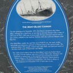 History plaque for the cannon from the S.S. Mont Blanc from the Halifax Explosion 1917-12-06