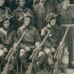 Canadian sniper course candidates in apparently in Normandy, France in 1944.