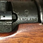 "No.4 MK. I (T) Lee-Enfield sniper rifle L30429 ""S"" and ENGLAND stamps."