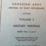 Military Writing Canadian Army 1958