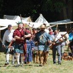 Fort Nisqually Brigade Days 2016 AUG (29) - The Fur Brigade coming up from the river.