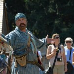 "Fort Nisqually Brigade Days 2016 AUG (61) ""Who wants to join us and become rich with beaver pelts?"""