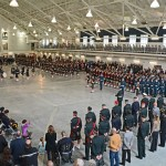 (233) Afghanistan veterans on parade with the regiment and cadets.