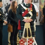 Lieutenant Colonel Paul V Ursich, Commanding Officer of the Seaforth Highlanders of Canada. He is watching the demonstrations.