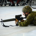 (423) A C6 Race team member with C7A1 rifle.