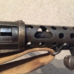 Lanchester Machine Carbine - right side ejection port.