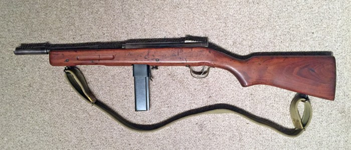 Reising Model 50 SMG DEWAT - left side.