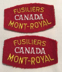 Fusiliers Mont-Royal REPRODUCTION maybe as the CANADA glows under UV light.