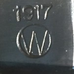 "M1917 Winchester bayonet with ""1917"" and ""W"" in circle."