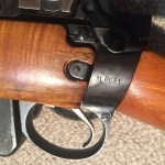 "No4 Mk I star 3L6081 RCMP target rifle w maple - wrist markings. Serial number and RCMP ""MP"" monogram."