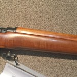No. 4 Mk I star 3L6081 RCMP target rifle w maple wood. Right side of centre section.