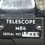 M84 sniper scope SN 16559 & mount for M1D Garand - data plate possibly replica.