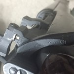 Lee-Enfield No4 MKI* Long Branch cutaway - Serial number on bolt handle