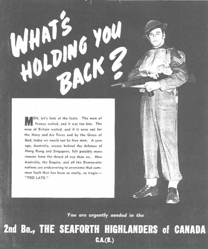 Canadian Army Sergeant holding a sub-machine gun.