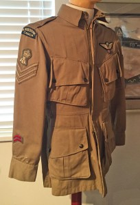 Canadian Airborne used U.S. Jacket Parachutist. 500 sets were obtained by Canada for use at Shilo, Manitoba in WWII.