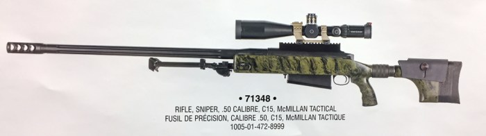 C15 sniper rifle McMillan TAC-50 (DND photo)