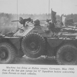 Ferret 54-82615 ? - C Sqadron one of last gun camps before converting from Ferrets to tracked vehicles.