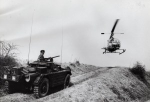 "Ferret 54-82543 in 1963 Fort Garry Horse (Photo courtesy of veteran Ferret Crewmember ""Digger"" McDougall)"