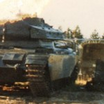 Ferret 54-82578 after destruction in a hanger firer - to right of a Centurion tank that was also burnt I believe.