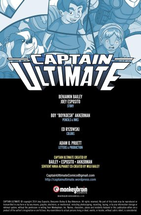 Captain Ultimate #5 Inside Cover