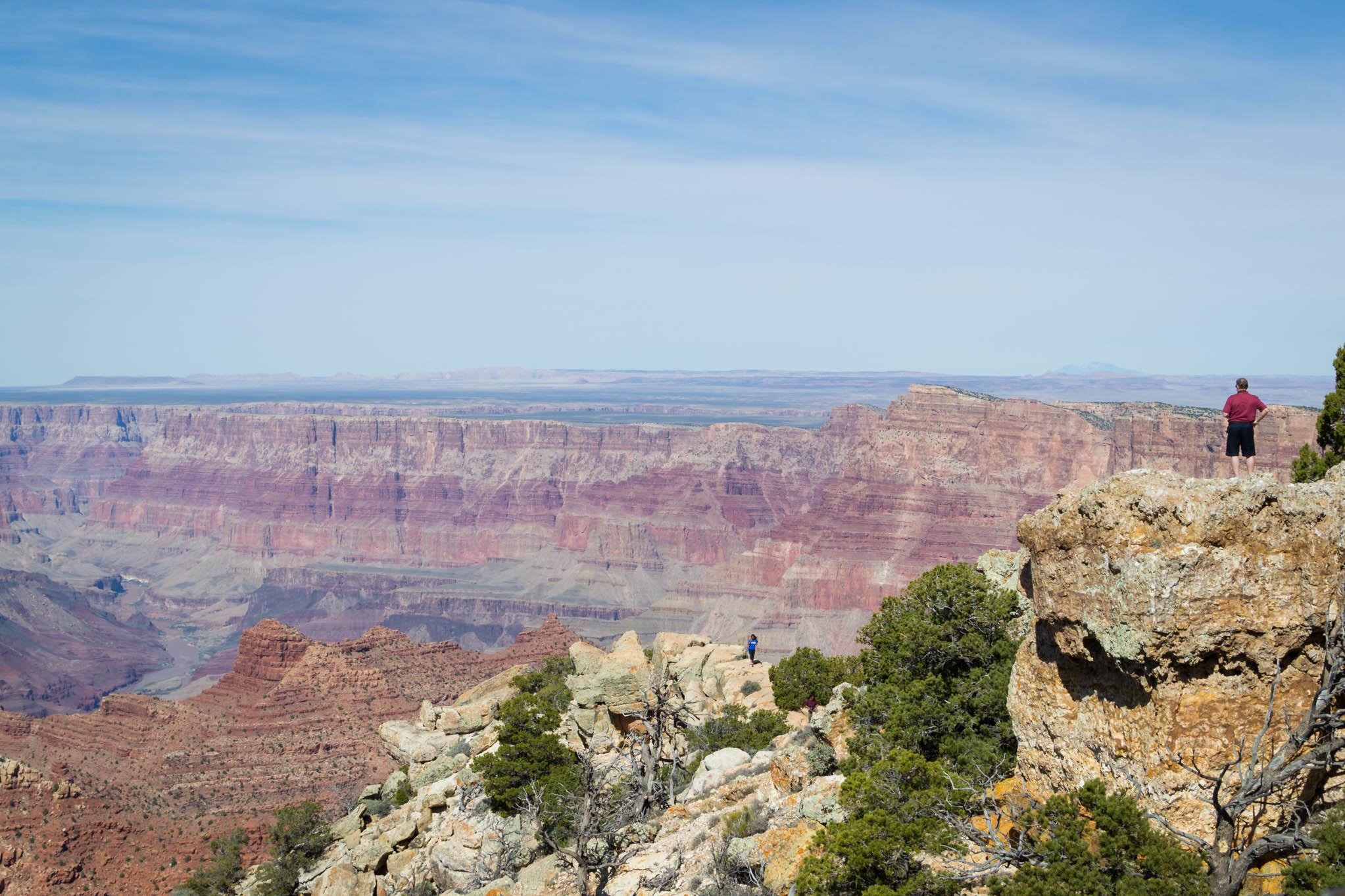 Le Grand Canyon depuis l'un des points de vue de la Desert View