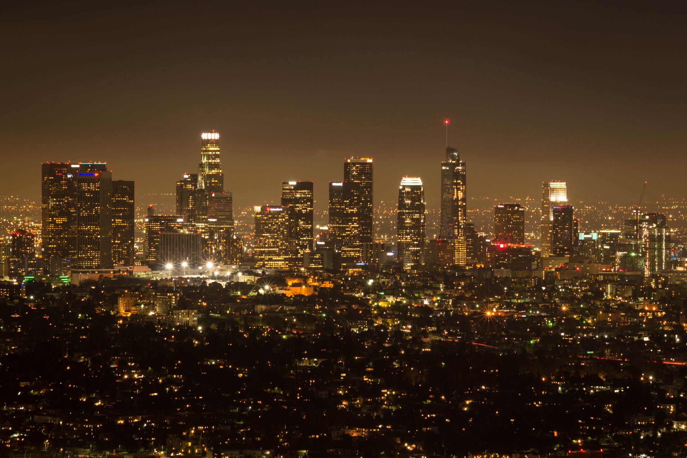 Le Downtown de Los Angeles depuis le Griffith