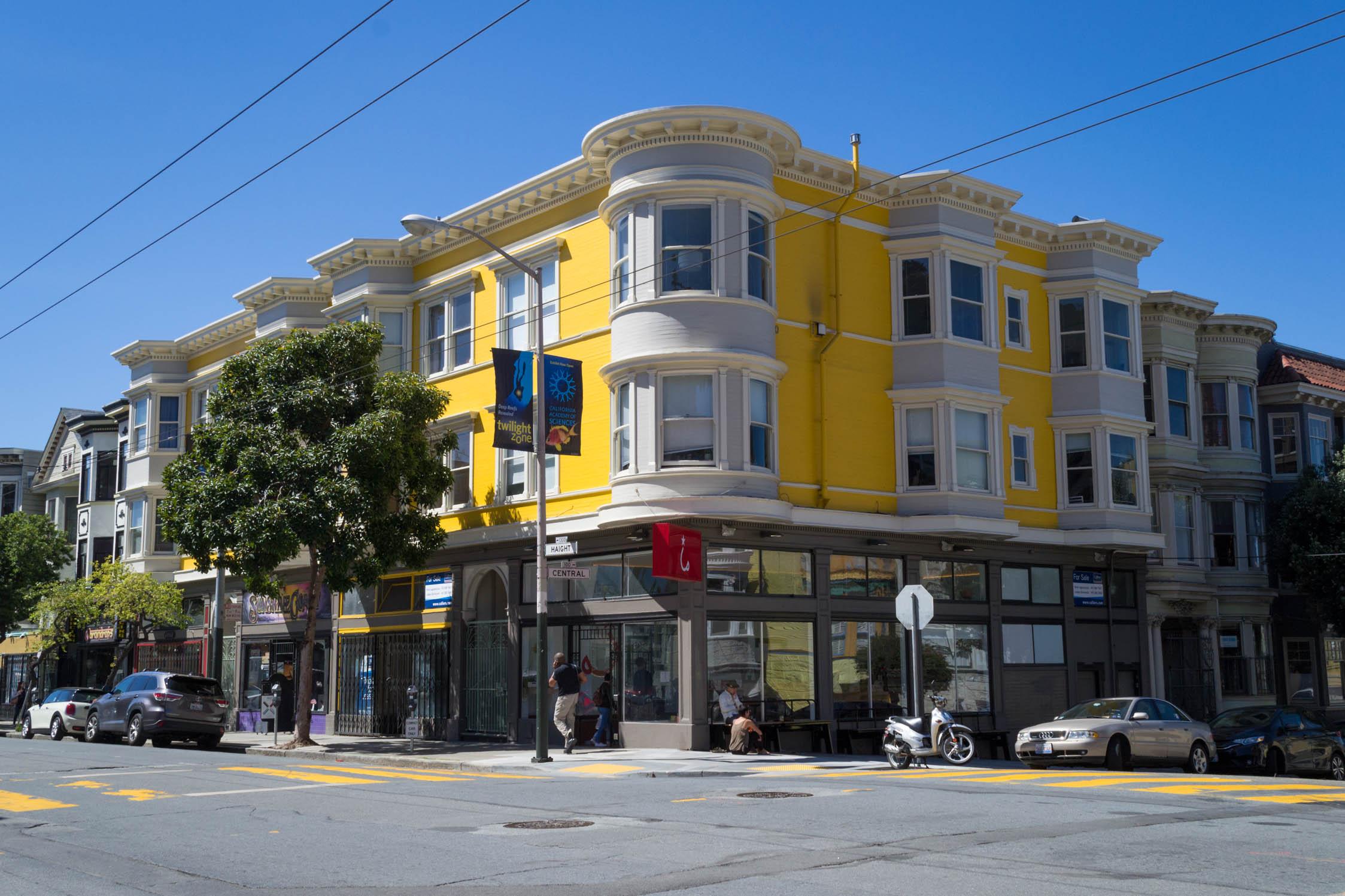 Une maison typique de San Francisco sur Haight St