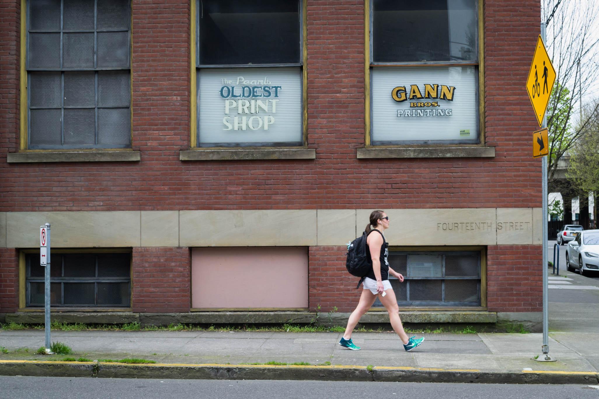 Les vieux bâtiments en briques sont toujours présents à Portland