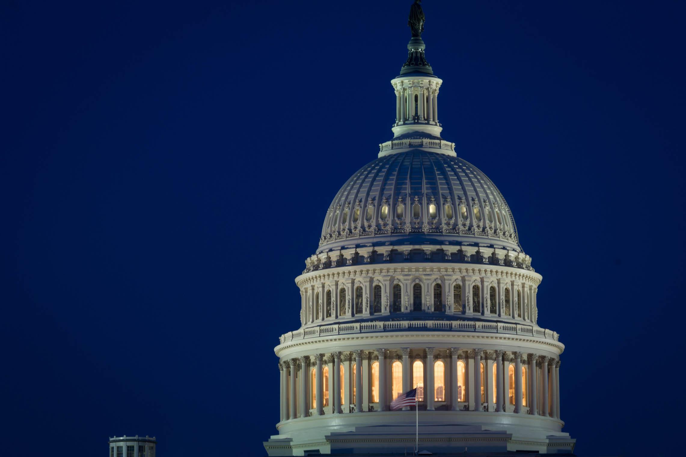 Le dôme du Capitole de nuit