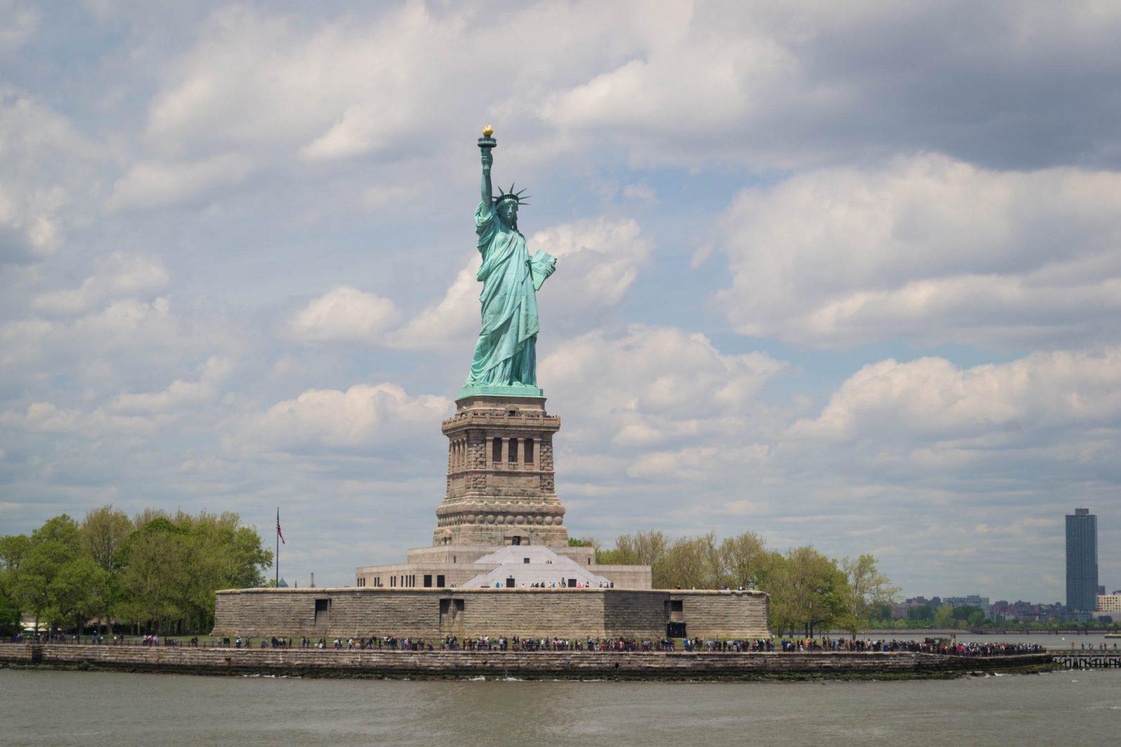 La statue de la Liberté depuis le ferry