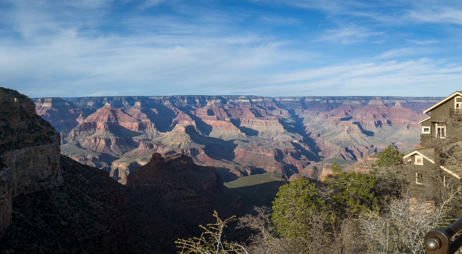 Photo de notre arrivée au Grand Canyon